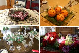 ideas how to decorate christmas table christmas dining table centerpiece ideas