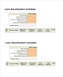 Amortization Table With Extra Payments Amortization Schedule Template 5 Free Word Excel Documents