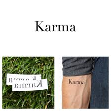 quotes about karma not existing quotes karma temporary tattoo set of 2
