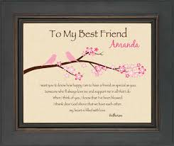 best engraved gifts best friend gift personalized print for best friend 8x10