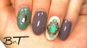 acrylic nails create your own gemstones or jewels e041 youtube