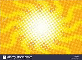 retro sun with rays pop vector illustration stock vector