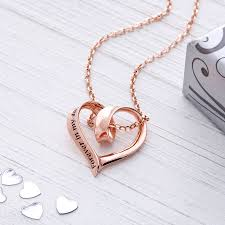 plated rose gold necklace images In my heart pendant sterling silver rose gold plated by lauryn jpg