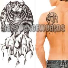 howling tiger leg arm temporary scar cover