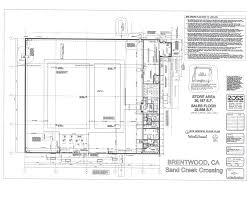 colin kent floorplan drawing for the ross store at the sand creek crossing shopping center in brentwood california