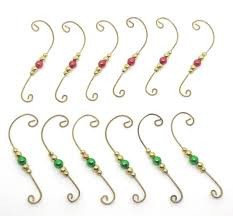 beaded ornament hangers decorative swirl wire