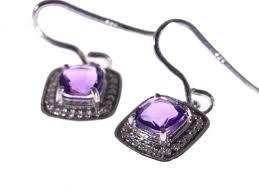 amethyst earrings amethyst earrings in sterling silver lloyd gems