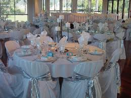 dining table centerpieces ideas blue white and silver