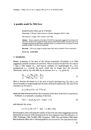 negative energy experiment a possible model for fifth force pdf download available
