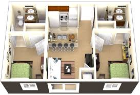 two bed room house category bedroom plan 0 corglife