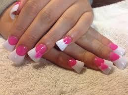 White Pink Nail Pink And White Sculptured Nails Best Nail Designs 2018