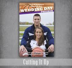 magazine wedding programs basketball wedding program football theme sports themed