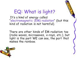 what is light in science light and sound 4 th grade science eq what is light it s a kind