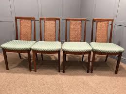 g plan teak dining chairs 4 x cane back chairs retro vintage uk
