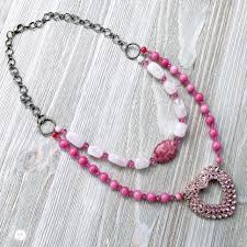 pink necklace images Pretty in pink pierced earrings jpg