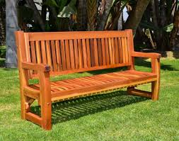 garden bench outdoor wood ft eucalyptus photo on astounding wood
