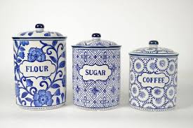 blue and white kitchen canisters alcott hill 3 kitchen canister set reviews wayfair