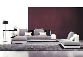 Modern Leather Sofa With Chaise Fabric Sectionals Modern Living Room Contemporary Fabric