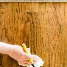 Fix Hardwood Floor Scratches - how to repair wood floor scratches quick fix friday polished