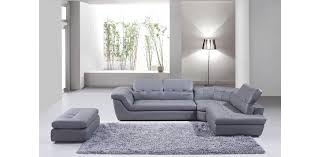 Modern Leather Sofa With Chaise Modern Gray Sectional 397 Italian Grey Leather Intended For 11
