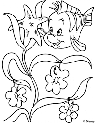 flounder colouring page the little mermaid little princess