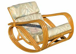 Rocking Chair With Ottoman For Sale Rare Restored Pretzel Arm Rattan Rocking Chair With Ottoman For