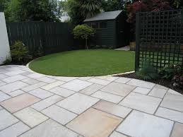 Slabbed Patio Designs Garden Paving 2 House Pinterest Garden Ideas Gardens And
