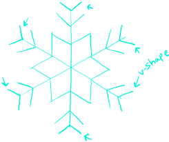 draw snowflake step step drawing tutorial