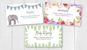 registry for baby shower editable free printable baby registry cards to complement your