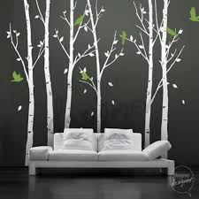 51 tree wall art stickers details about full leafy tree wall art vinyl wall decal sticker art birds in the urban forest 101in tall 6