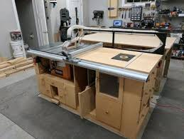 table saw router table table saw router station finally done woodoworking pinterest