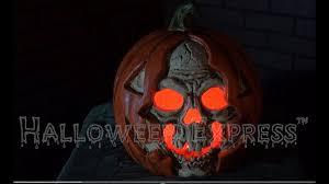 halloween pumpkin props light up skull in pumpkin props u0026 decorations youtube