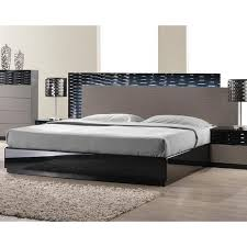 Black Platform Bed Roma Black And Grey Lacquer Platform Bed J M Furniture Modern