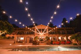 elegant terrace ideas with led bulb outside string lights wrought