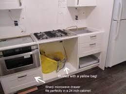 Which Ikea Cabinet For Sharp Microwave Drawer Real World Exle