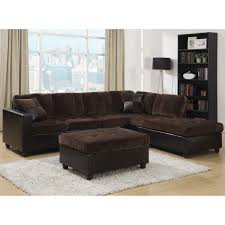 Microfiber Futon Couch Coaster Fine Furniture 5056 Mallory Microfiber Sectional The Mine