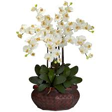 silk flowers charlton home large phalaenopsis silk flower arrangement reviews