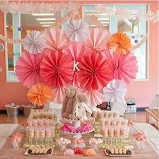 different size paper fans hand for wedding flowers birthday party
