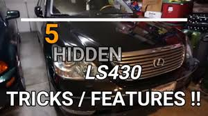 lexus ls features 5 hidden lexus ls430 features you didn u0027t know about youtube