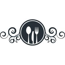 enseigne de cuisine stickers enseigne avec couteau fourchette et cuillère pour cuisine