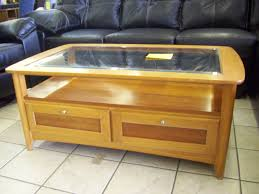 glass top coffee table with storage drawers multifucntional glass top coffee table with storage stuffs