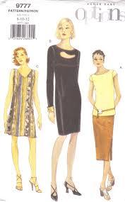 pattern a line shift dress vogue easy options 9777 sewing pattern a line shift straight dress