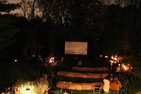 backyard drive in party photoes