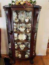 curved glass china cabinet curved glass china cabinet ebay