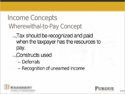 2 27 income concepts wherewithal to pay concept tax should be