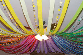 Streamer Chandelier Birthday Bonanza Ideas Hula Hoop Streamers And Hula