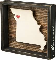 Homesick Candles Promo Code by Amazon Com Missouri State Shape Box Sign Primitives By Kathy