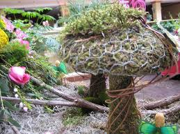 fairy garden at the flower shop network booth in nc