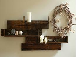 Pallet Wood Bookshelf Decorative Wall Shelves Modern Rustic Pallet Wood Shelves