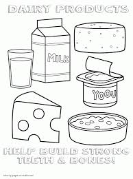healthy food colouring pages dairy products within products